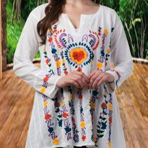Raj Embroidered Tunic Shirt